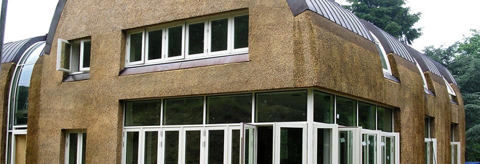 Rietdekkersbedrijf Van Drie en Vliek__Moderne villa riet